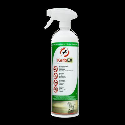 Foto: Flasche mit Sprühkopf, 1000ml, KerbEx grün Insektenschutz für Pferde ohne Knoblauch