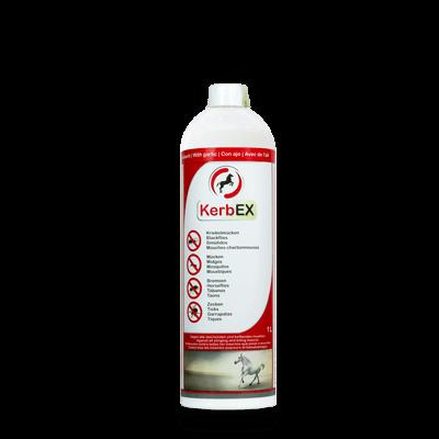Foto: Flasche, 1000ml, KerbEx rot Insektenschutz für Pferde mit Knoblauch